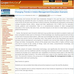 Changing Trends in India's Management Education Scenario