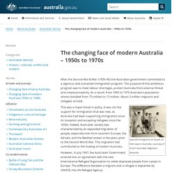 The changing face of modern Australia – 1950s to 1970s