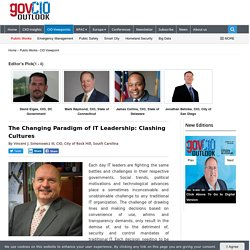 The Changing Paradigm of IT Leadership: Clashing Cultures