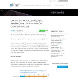 Changing Models: A Global Perspective on Paying for Content Online