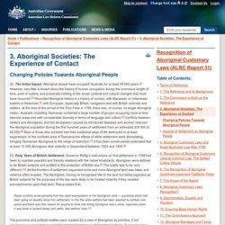 Changing Policies Towards Aboriginal People