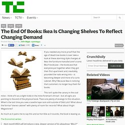 The End Of Books: Ikea Is Changing Shelves To Reflect Changing Demand