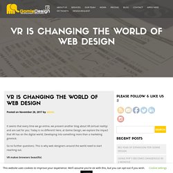 VR is Changing the World of Web Design