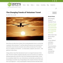 The Changing Trends of Volunteer Travel - Learning Service