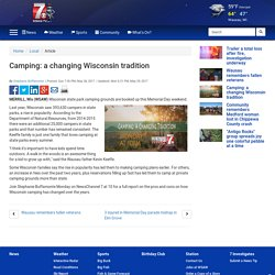 Camping: a changing Wisconsin tradition