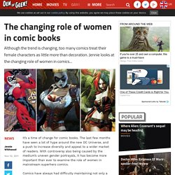 The changing role of women in comic books