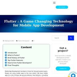 Flutter : A Game ChangingTechnology for Mobile App Development