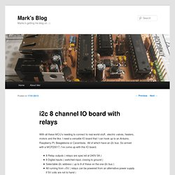i2c 8 channel IO board with relays