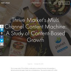 Thrive Market's Multi Channel Content Machine: A Study of Content-Based Growth — REFORGE
