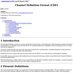 Channel Definition Format Submission 970309