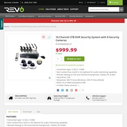 Buy 16 Channel 2TB DVR Security System with 8 Security Cameras Online