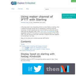 Using maker channel of IFTTT with Starling - tutorials