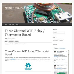 Three Channel WiFi Relay / Thermostat Board