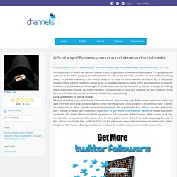 Channeliser - Blog View - Official way of Business promotion on Internet and social media