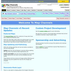 Home Page : Map Channels, free mapping tools