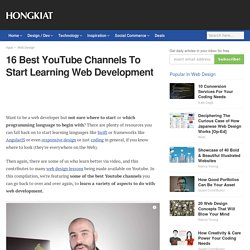16 Best YouTube Channels To Start Learning Web Development
