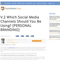 V.2 Which Social Media Channels Should You