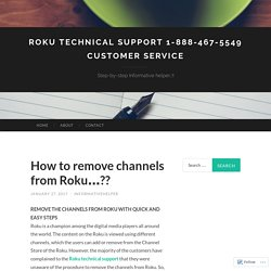 Roku Technical Support 1-888-467-5549 Customer Service