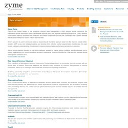 Zyme Channel Data Management Solution and Data Sheets