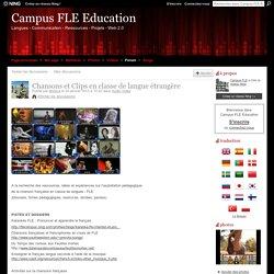 Chansons et Clips en classe de langue étrangère