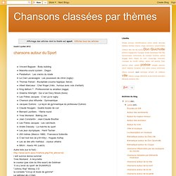 Chansons classées par thèmes: sport