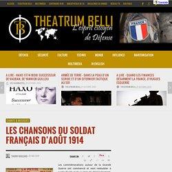 Les chansons du soldat français d'août 1914