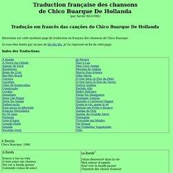 Chico Buarque: Chansons et Traductions en Français