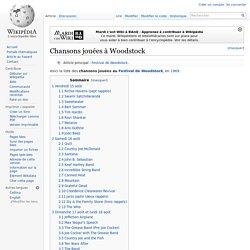 Chansons jouées à Woodstock
