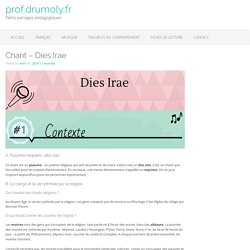 Chant – Dies Irae – prof.drumoly.fr