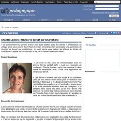 Réviser le brevet sur smartphone
