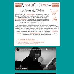 La voix des poètes: poèmes à écouter en ligne