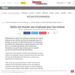 Management : McDo fait chanter ses employés pour les motiver
