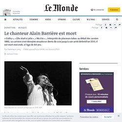 Le chanteur Alain Barrière est mort