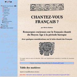 Chantez-vous français ?