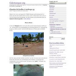 Chantier de fouilles à Audenge-33 - Calestampar.org