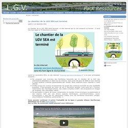 Le chantier de la LGV SEA est terminé - Pack ressources LGV