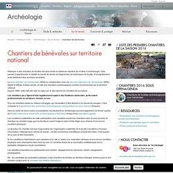 Chantiers de fouilles archeologiques pour benevoles 2013