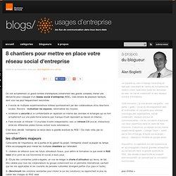 8 chantiers pour mettre en place votre réseau social d'entreprise