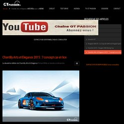 Chantilly Arts et Elegance 2015 : 7 concept car en lice