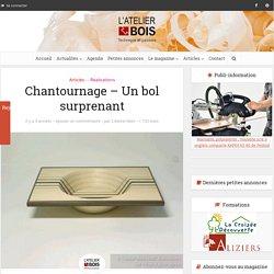 Chantournage - Un bol surprenant - L'Atelier Bois