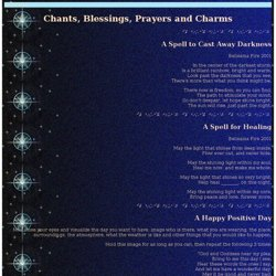 Chants, Blessings, Prayers and Charms