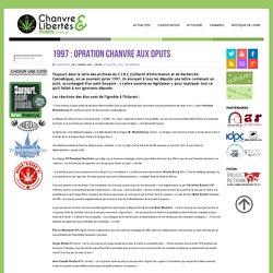 """1997 : Opération """"Chanvre aux députés"""""""