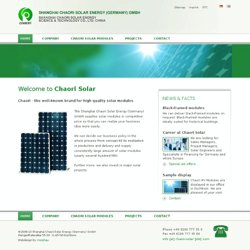 Chaori Solar – High Quality Solar Modules.
