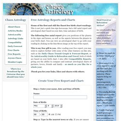 Free Astrology Reports and Charts