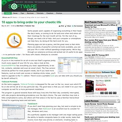 10 apps to bring order to your chaotic life from Softwarecrew