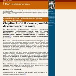 Chap1- commencer un cours