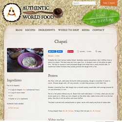 Chapati - India - Exotic recipes — Authentic World Food