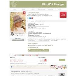 """Chapeau DROPS au crochet, en """"Delight"""" et """"Lin""""."""