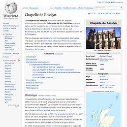 Chapelle de Rosslyn