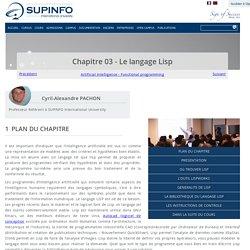 Chapitre 03 - Le langage Lisp